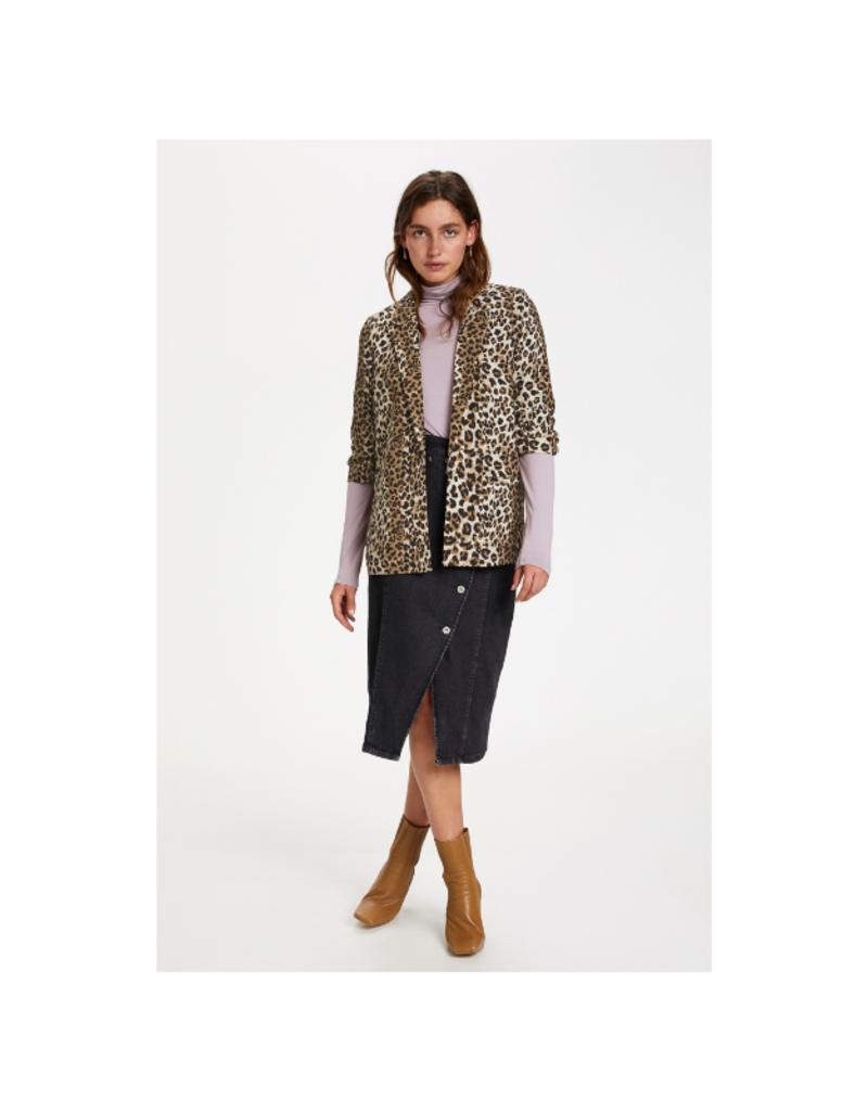 Soaked in Luxury Shirley Blazer in Beige Leopard by Soaked in Luxury