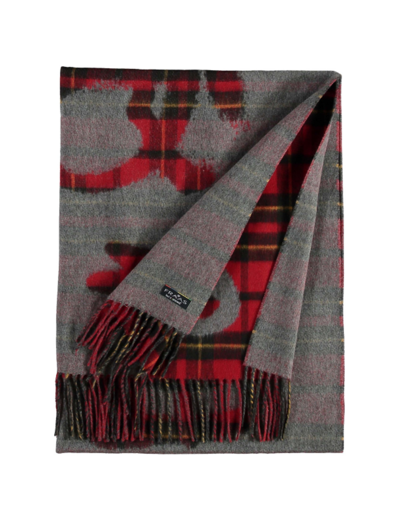 Fraas Queen For A Day Red Oversize Scarf