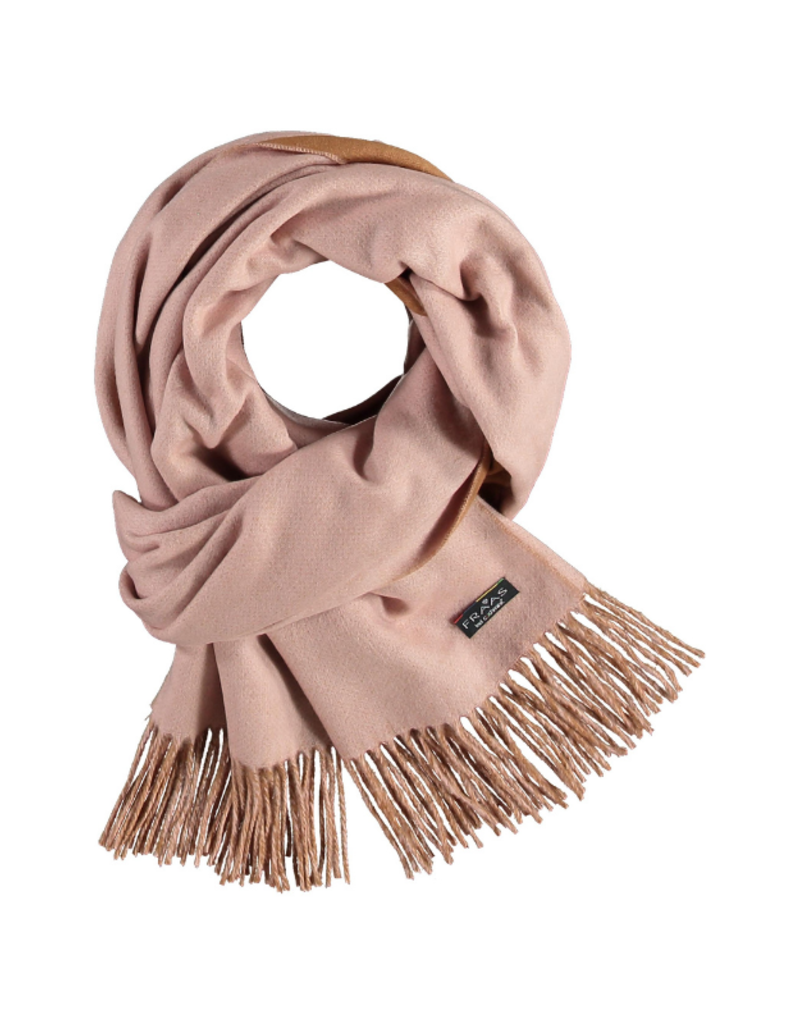 Fraas Double Face Solid Light Rose Oversize Scarf