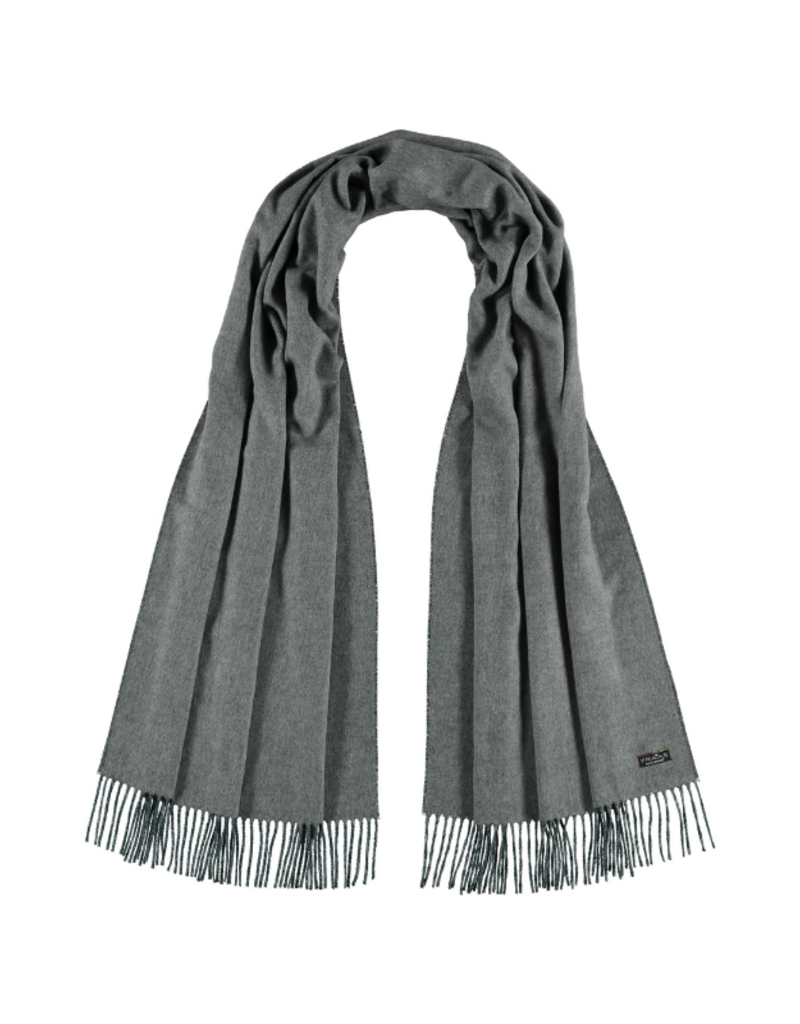 Fraas Double Face Solid Grey Oversize Scarf