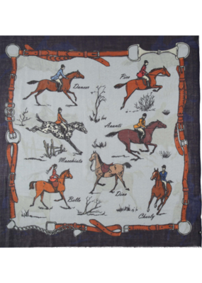 Fraas Giddy Up Royal Scarf