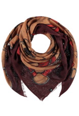 Fraas Giddy Up Rust Scarf