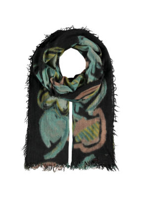 Fraas All Things Heart Petrol Scarf