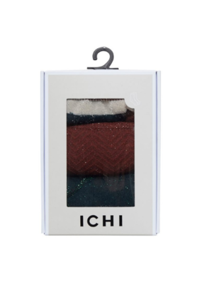 ICHI 3 Licaene Pack Socks In A Box by ICHI