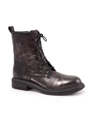Bueno Mandy Lace Up Boot in Steel Espiga & Black by Bueno