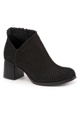 Bueno Nagi Block Heel in Black Scales by Bueno