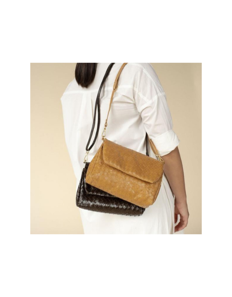 uashmama Large Terme Woven Handbag in Camel by Uashmama