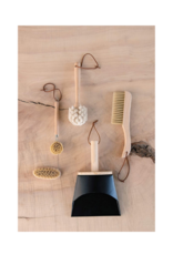 Beechwood Dish Brush with Leather Strap
