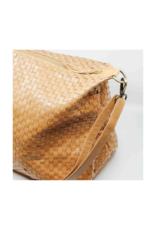 uashmama Small Gemma Woven Handbag in Camel by Uashmama