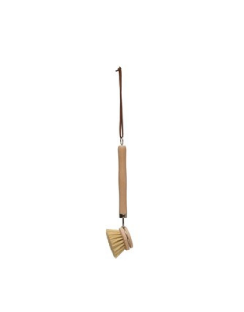 "9"" L Beech Wood Dish Brush"