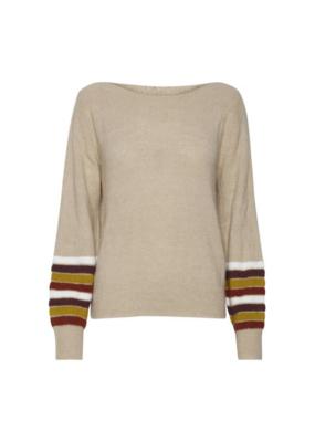 ICHI Fenner Sweater in Oxford Tan by ICHI
