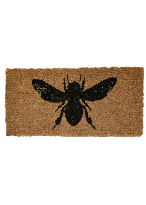 Natural Coir Doormat with Bee