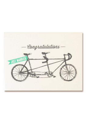 The Good Days Print Co. Tandum Bike Wedding Card