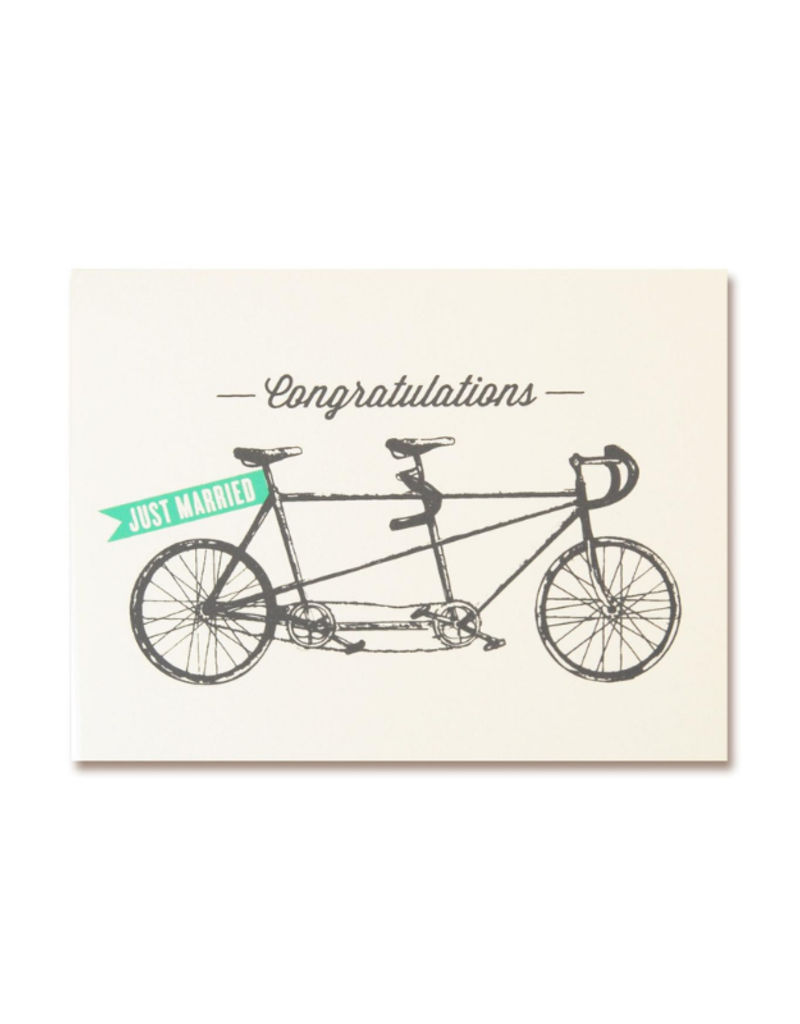The Good Days Print Co. Tandum Bike Wedding Card