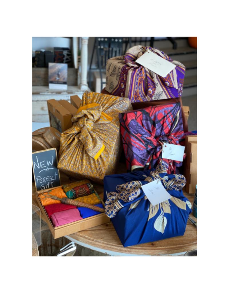 Silk Sari Fabric Gift Wrapping Kit