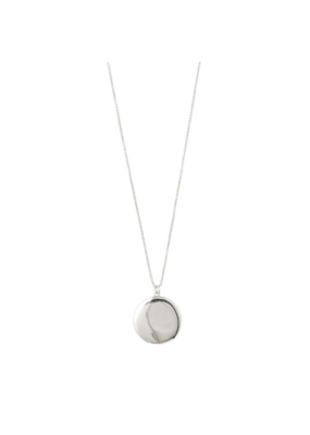 PILGRIM Compassion Silver-Plated Disc Necklace by Pilgrim
