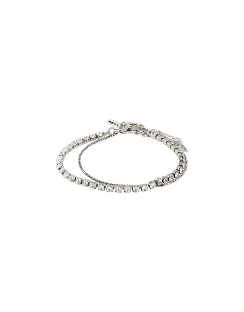 PILGRIM Compassion Silver-Plated 2-in-1 Bracelet Set by Pilgrim
