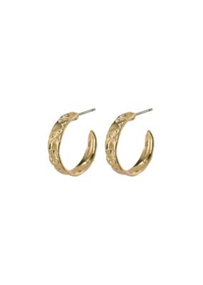 PILGRIM Compassion Gold-Plated Hoop Earrings by Pilgrim