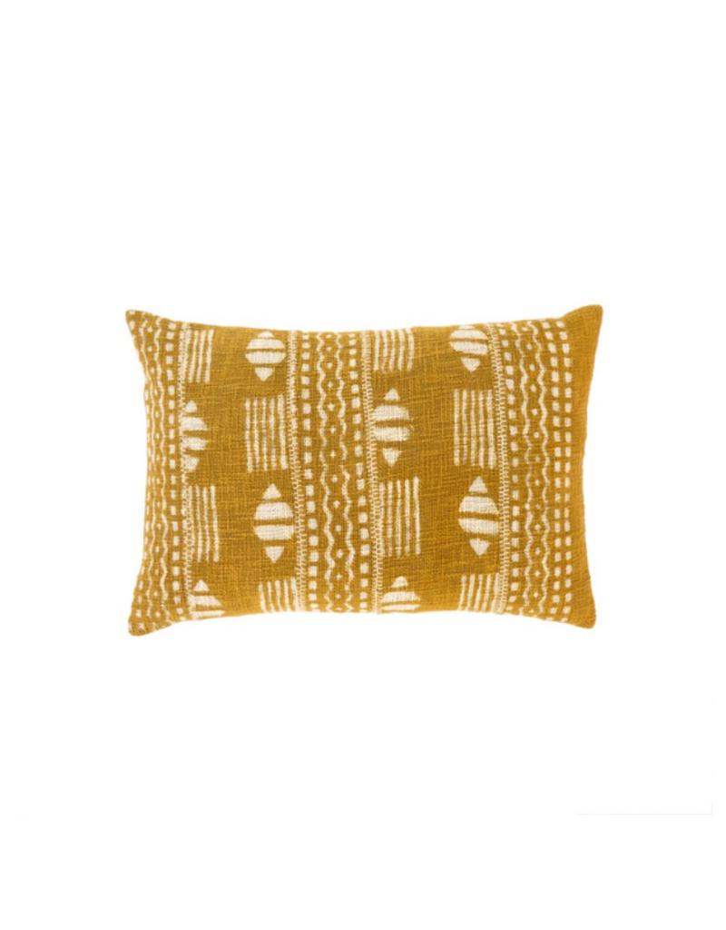 Chartreuse Dabu Pillow 16x24