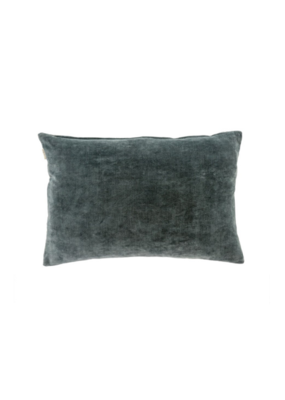 Steel Grey Vera Velvet Pillow 16x24