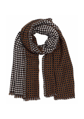 Cross Dot Scarf Black by Echo