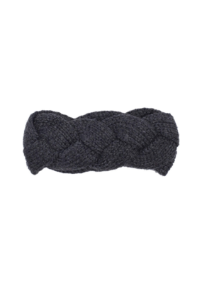 Echo Recycled Cable Headband Charcoal