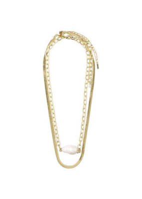 PILGRIM Gracefulness Freshwater Pearl Gold-Plated Necklace by Pilgrim