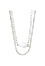 PILGRIM Gracefulness Freshwater Pearl Silver-Plated Necklace by Pilgrim