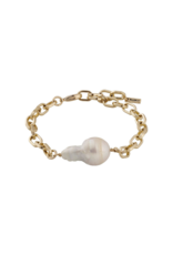 PILGRIM Gracefulness Freshwater Pearl Gold-Plated Bracelet by Pilgrim