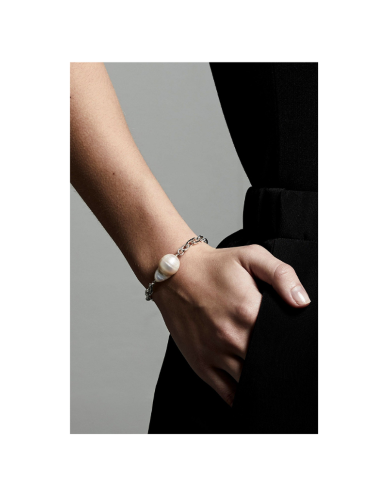 PILGRIM Gracefulness Freshwater Pearl Silver-Plated Bracelet by Pilgrim