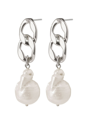 PILGRIM Gracefulness Freshwater Pearl Silver-Plated Earrings by Pilgrim