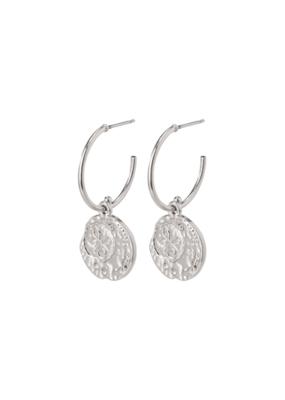 PILGRIM Warmth Silver-Plated Crystal Earrings by Pilgrim