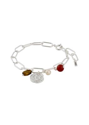 PILGRIM Warmth Silver-Plated Brown Bracelet by Pilgrim