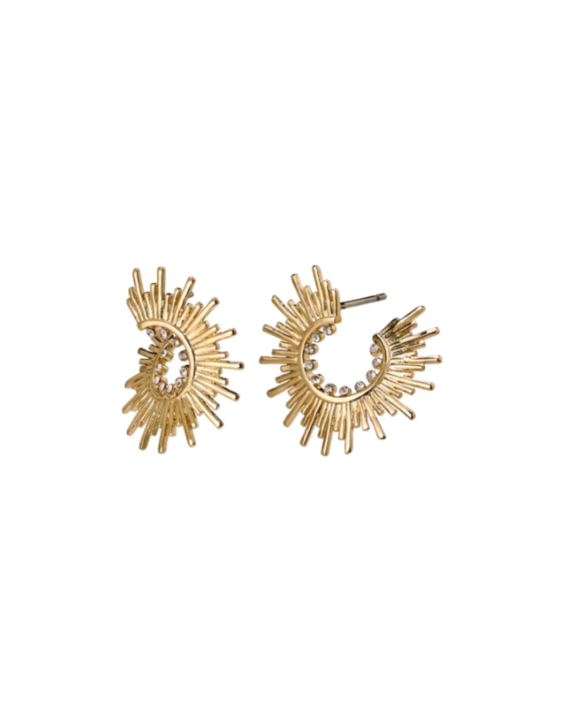 PILGRIM Shana Gold-Plated Crystal Earrings by Pilgrim