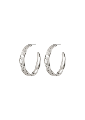 PILGRIM Madigan Silver-Plated Hoop Earrings by Pilgrim