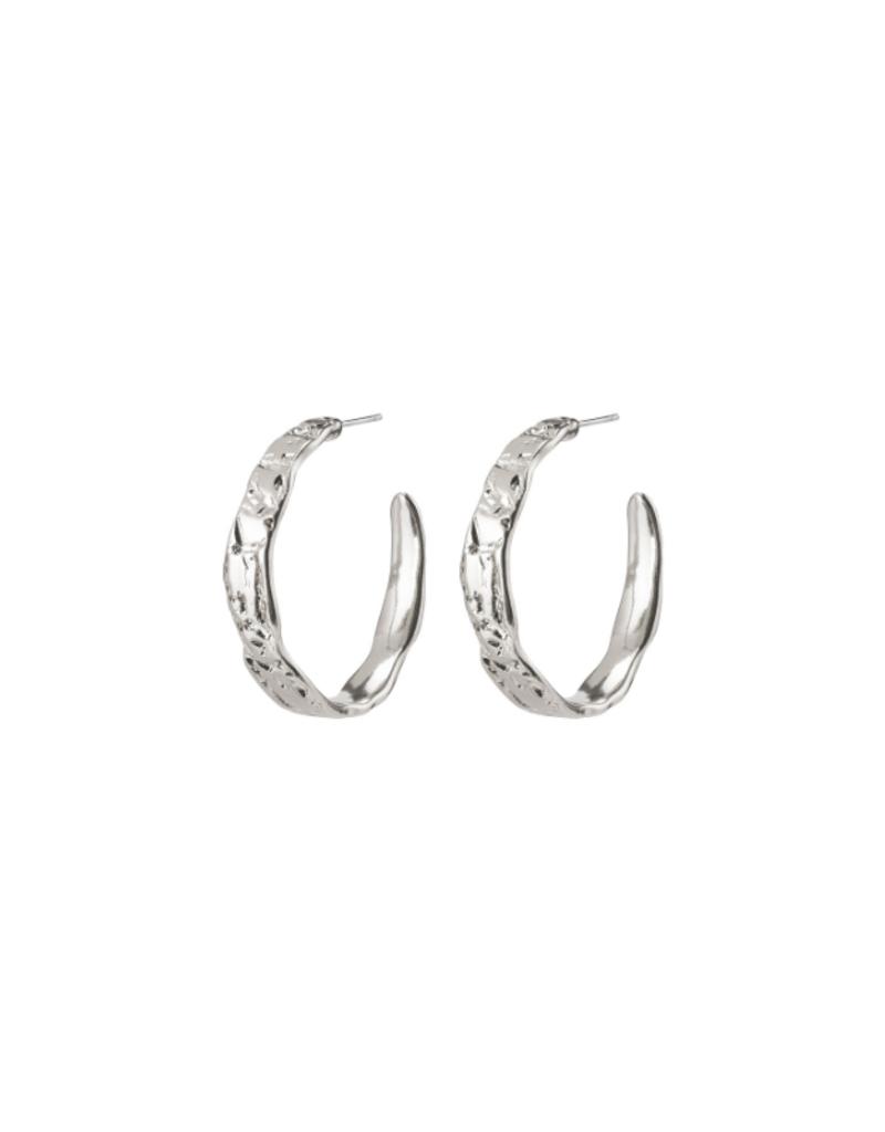 PILGRIM Madigan Silver-Plated Hoop Earrings by Pilgrim