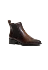 ateliers Bobby Snake Leather Ankle Boot in Brown by Ateliers