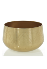 "Hofland Tulum Bowl Gold 9.75"""