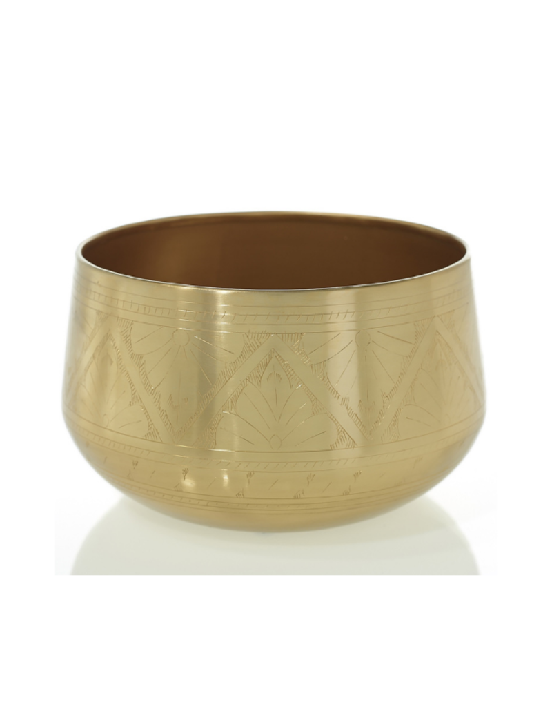 """Tulum Bowl Gold 9.75"""""""