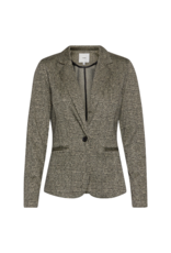 ICHI Kate Blazer in Black Grid by ICHI