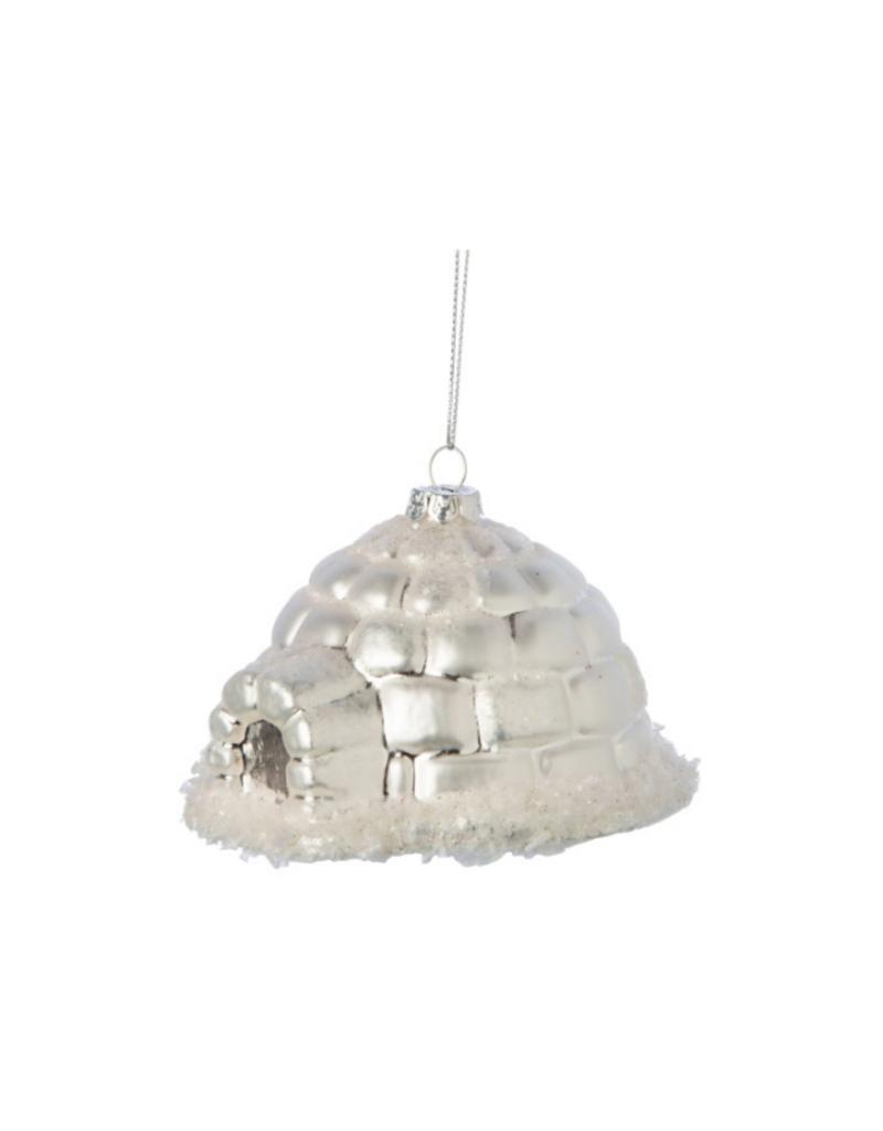 Glass Igloo Ornament Matte Silver
