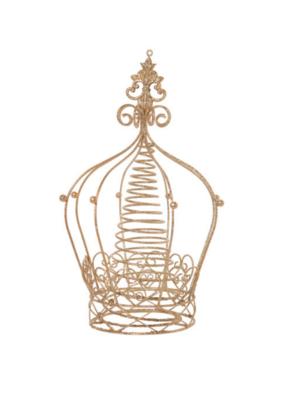 Gold Metal Crown Tree Topper