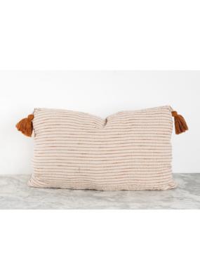 """Tara Pillow 14""""x22"""" in Ginger Tassel"""