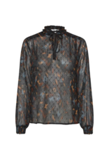 b.young Helmi Blouse in Deep Teal by b.young