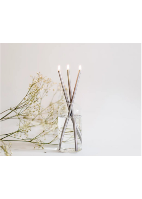 Everlasting Candle Co ECC Everlasting Candle Set in Silver