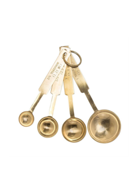 Bloomingville Stainless Steel Measuring Spoons in Gold Finish