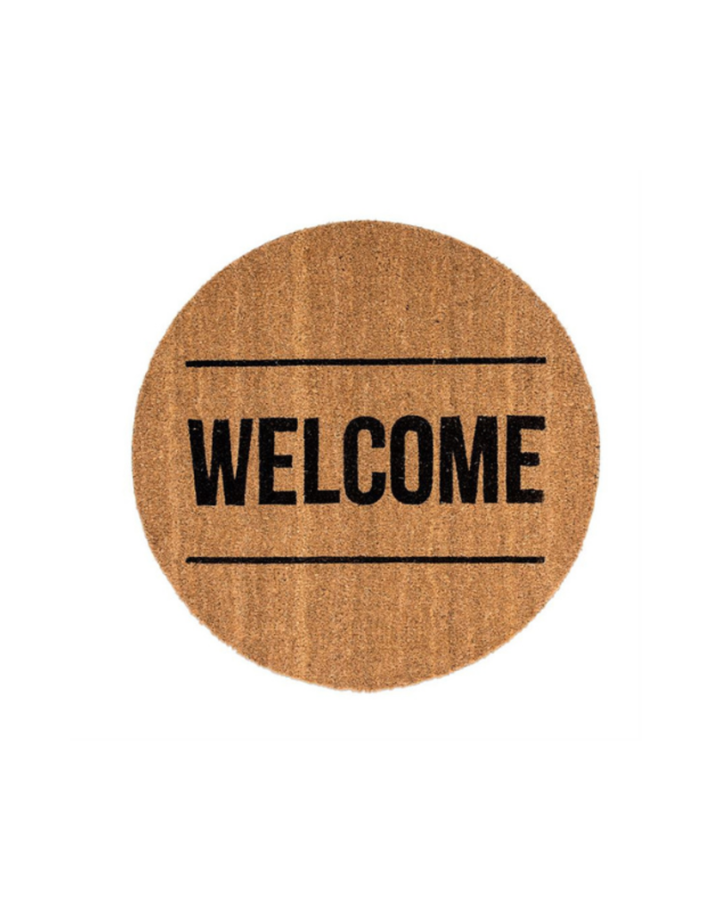 Bloomingville Round Welcome Coir Doormat