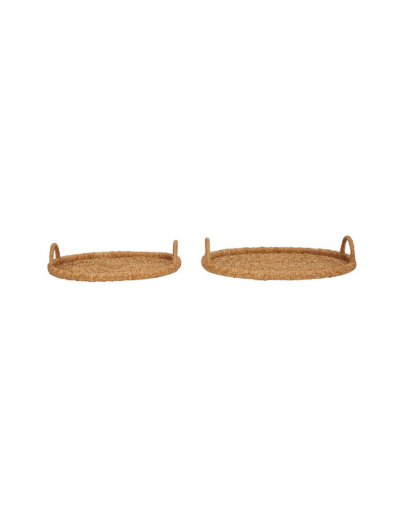 Bloomingville Small Oval Seagrass & Rattan Tray