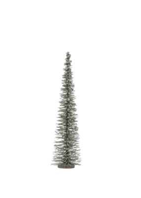 "19.75""H Bottle Brush Tree Green with Glitter"
