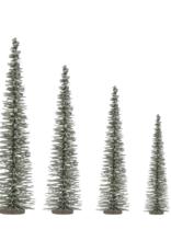 """19.75""""H Bottle Brush Tree Green with Glitter"""